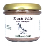 Duck Pate with Armagnac (Smooth) from Ballancourt, French Pate Suppliers