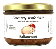 Country Style Pate with Sun Dried Tomatoes from Ballancourt, French Pate Suppliers